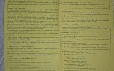 Votre mairie met à votre disposition un avis d'enquête publique relative au PADUC