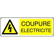Avis de coupure d'électricité